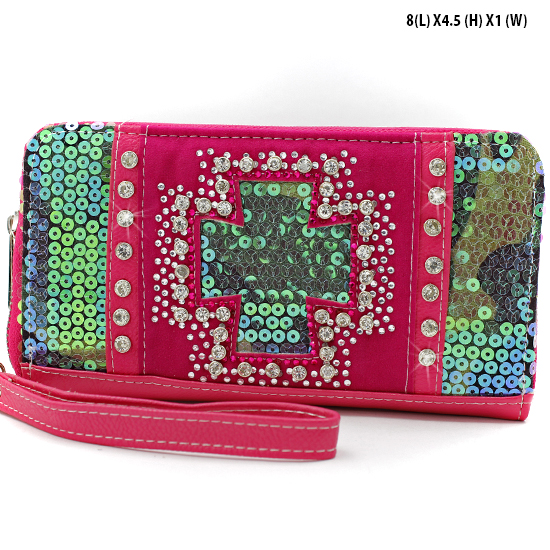 BQH-245-PINK - WHOLESALE WOMENS WRISTLETS-WALLETS