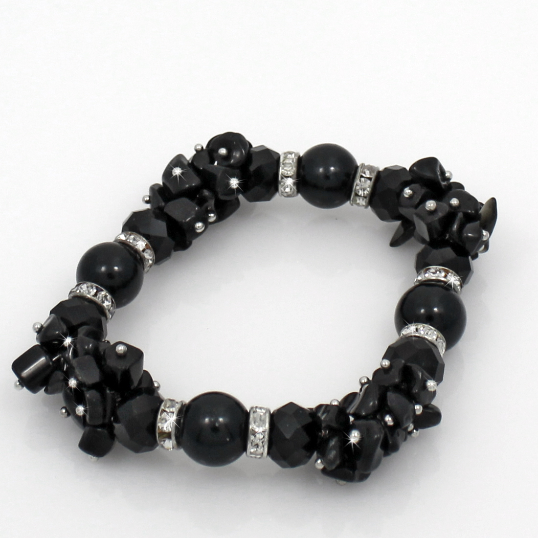 BRS01-BLACK - BRS01-BLACK FASHION JEWELRY BRACELETS