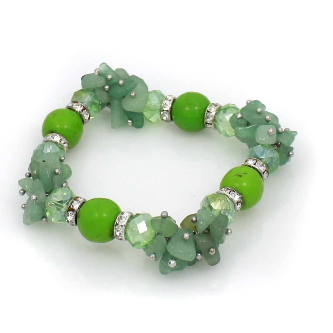 BRS01-GREEN - BRS01-GREEN FASHION JEWELRY BRACELETS