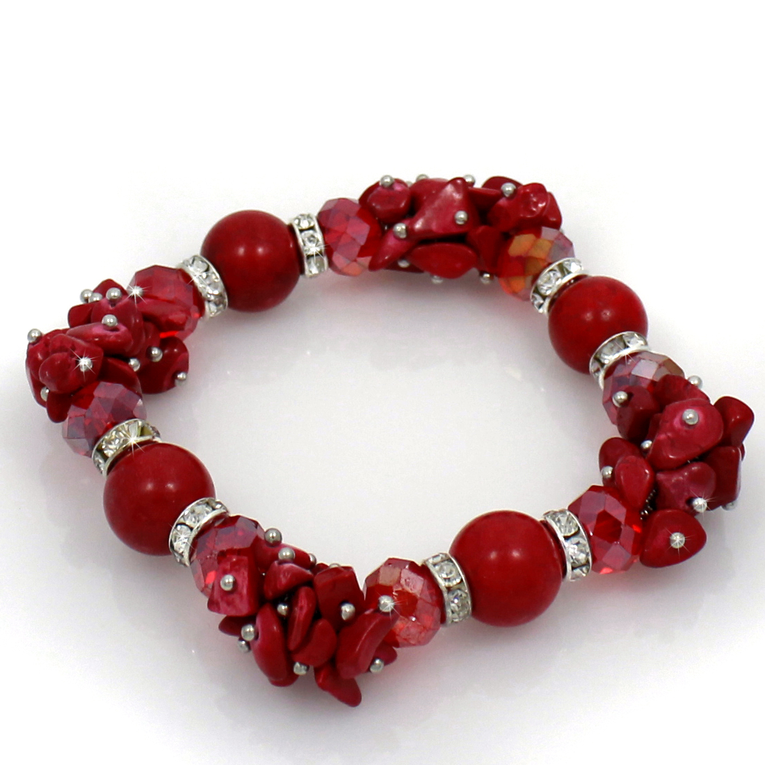 BRS01-RED - BRS01-RED FASHION JEWELRY BRACELETS