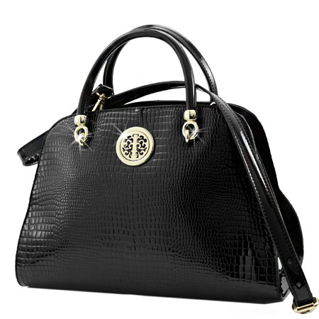 CPE-004-BLACK - WHOLESALE DESIGNER INSPIRED HANDBAGS
