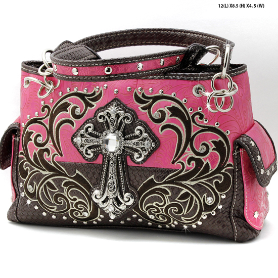 CRE-893-PINK - WHOLESALE WESTERN CROSS PURSES