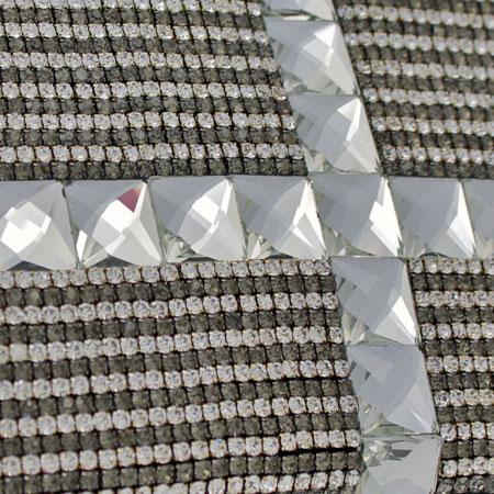 BHW-LTHR-CROSS-PEW - FULL CRYSTAL GLASS RHINESTONE STUDDED WALLETS
