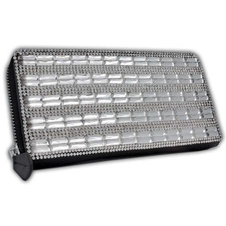 BHW-LTHR-CW-224-BK - FULL CRYSTAL GLASS RHINESTONE STUDDED WALLETS