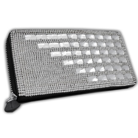BHW-LTHR-CW-226 - FULL CRYSTAL GLASS RHINESTONE STUDDED WALLETS