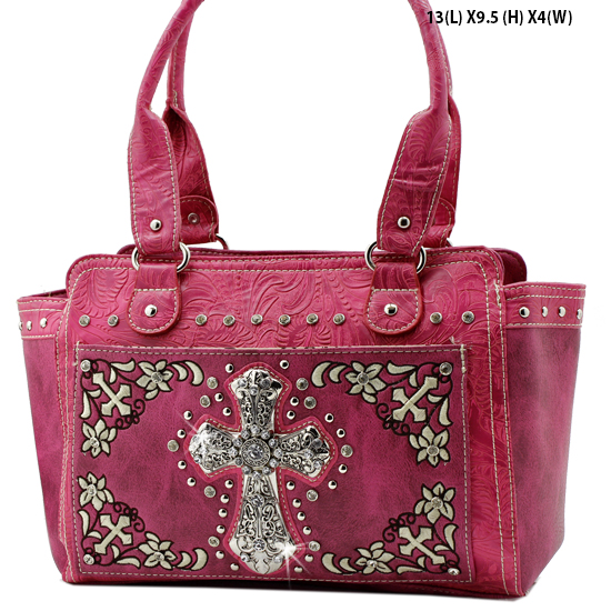 FC-168-HTPK - WHOLESALE WESTERN CROSS PURSES