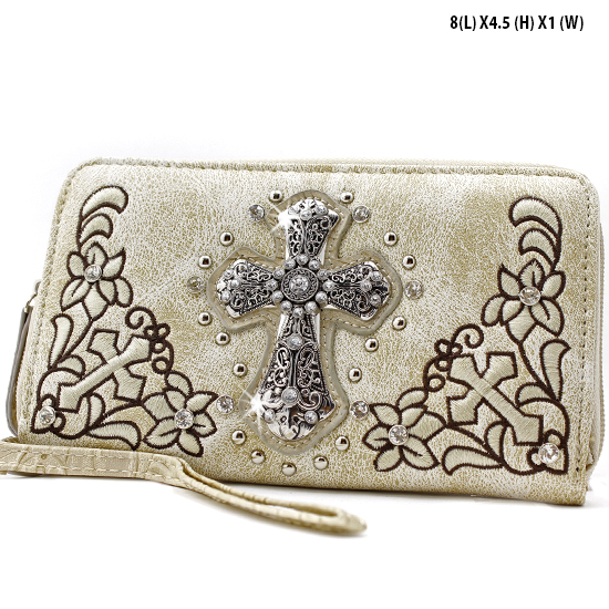 FC-238-BONE - WHOLESALE WOMENS WRISTLETS-WALLETS