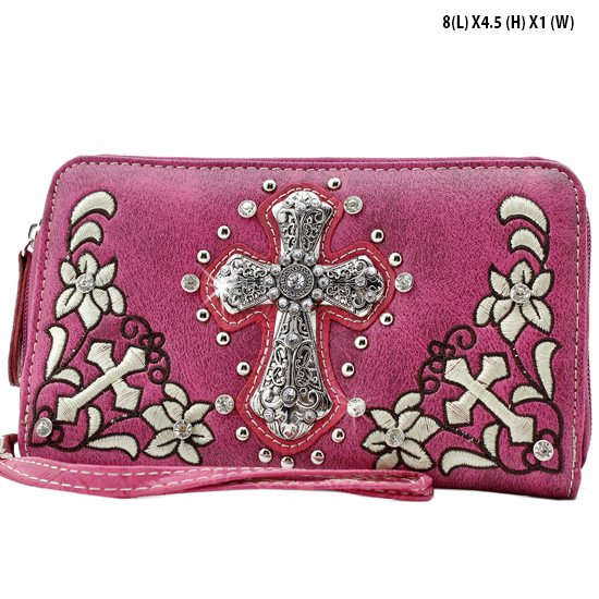 FC-238-HTPK - WHOLESALE WOMENS WRISTLETS-WALLETS