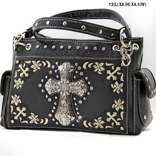 FC-893-BLACK - WHOLESALE WESTERN CROSS PURSES