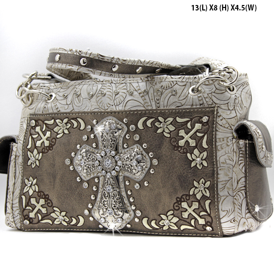 FC-893-PEWTER - WHOLESALE WESTERN CROSS PURSES