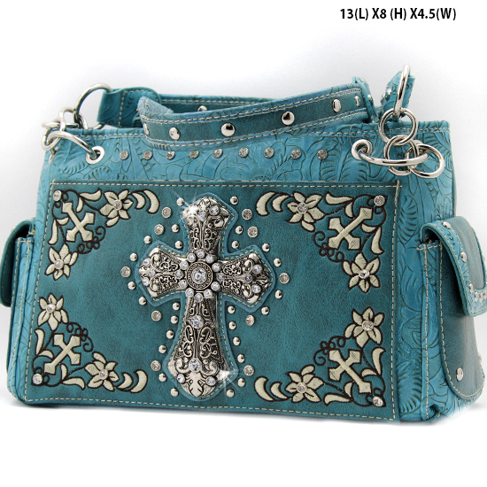 FC-893-TURQ - WHOLESALE WESTERN CROSS PURSES