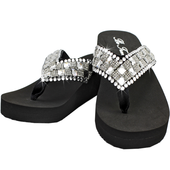 FF-105-NEW - WHOLESALE RHINESTONE FLIP FLOPS