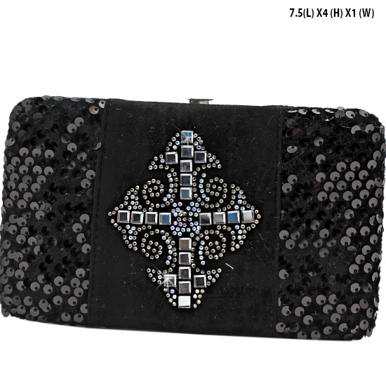 NEW-Q-2070-LCR-BLACK - WHOLESALE WOMENS WESTERN BUCKLE WALLET