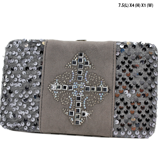NEW-Q-2070-LCR-PEWTER - WHOLESALE WOMENS WESTERN BUCKLE WALLET