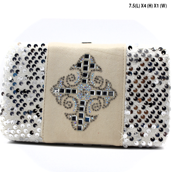 NEW-Q-2070-LCR-SILVER - WHOLESALE WOMENS WESTERN BUCKLE WALLET