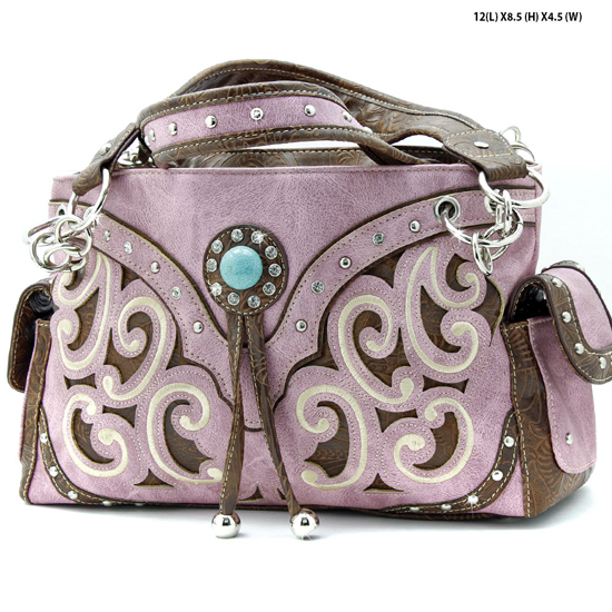 TASS-939-W13-PINK - WHOLESALE WESTERN RHINESTONE CROSS HANDBAGS