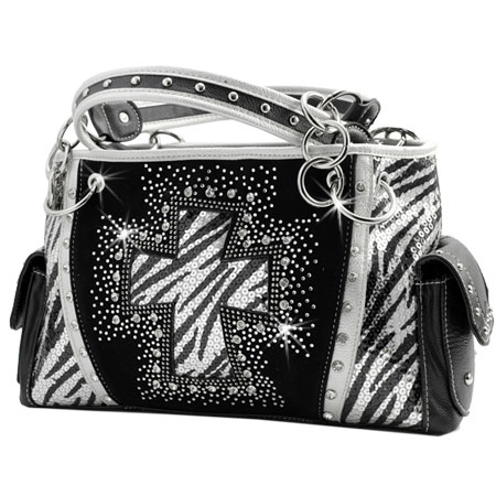 QH-893-BLACK - WHOLESALE WESTERN CROSS PURSES