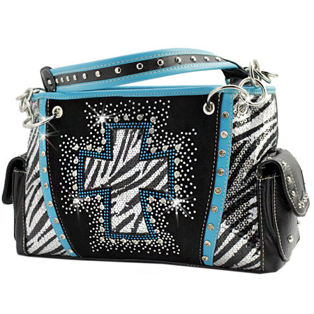 QH-893-TURQ - WHOLESALE WESTERN CROSS PURSES