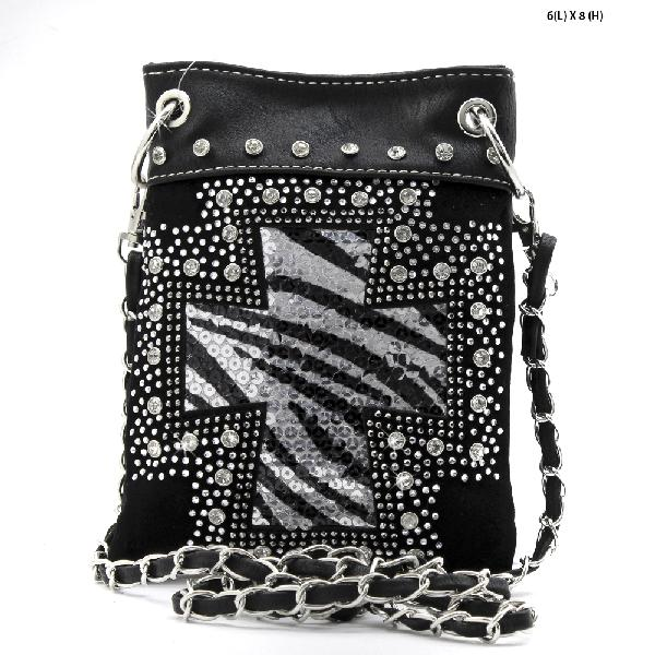 QH-930-BLACK - WHOLESALE RHINESTONE CRYSTAL CELLPHONE CASES/POUCHES