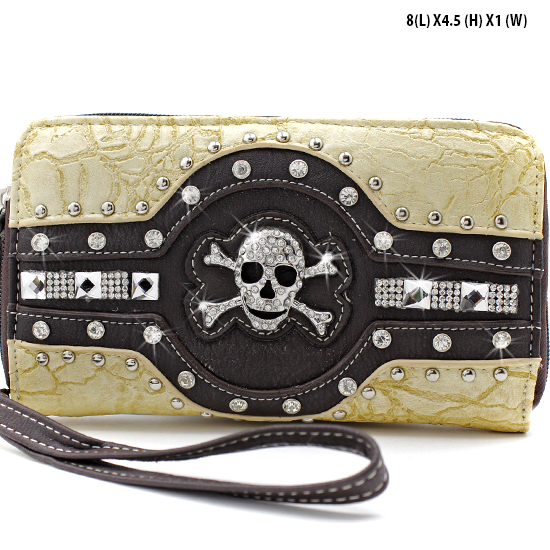 JR-245-BONE - WHOLESALE WOMENS WRISTLETS-WALLETS