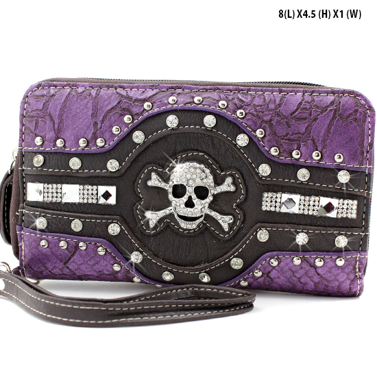 JR-245-PURPLE - WHOLESALE WOMENS WRISTLETS-WALLETS