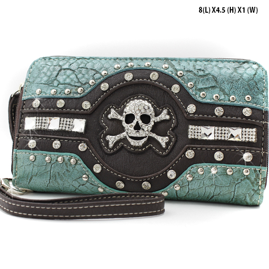 JR-245-TURQ - WHOLESALE WOMENS WRISTLETS-WALLETS