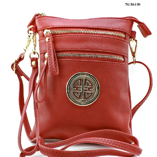 K002-RED - NEW DESIGNER INSPIRED RUNWAY STYLE PURSES