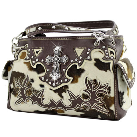 MCA-893-BROWN - WHOLESALE WESTERN CROSS PURSES