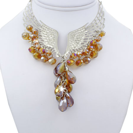 NKL-WINGS-LAVA - WHOLESALE GENUINE CRYSTAL AND GLASS NECKLACE