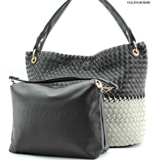 OTE-61656-BLK-LGY - NEW DESIGNER INSPIRED RUNWAY PURSES