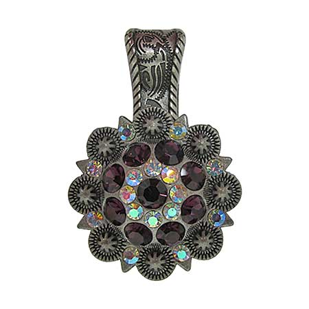 Wholesale western rhinestone crystal pendant pndt 401 dk pur for Wholesale cowgirl bling jewelry