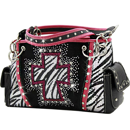 QH-893-HTPK - WHOLESALE WESTERN CROSS PURSES