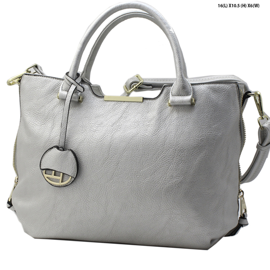 T1267-SILVER - NEW DESIGNER INSPIRED RUNWAY PURSES