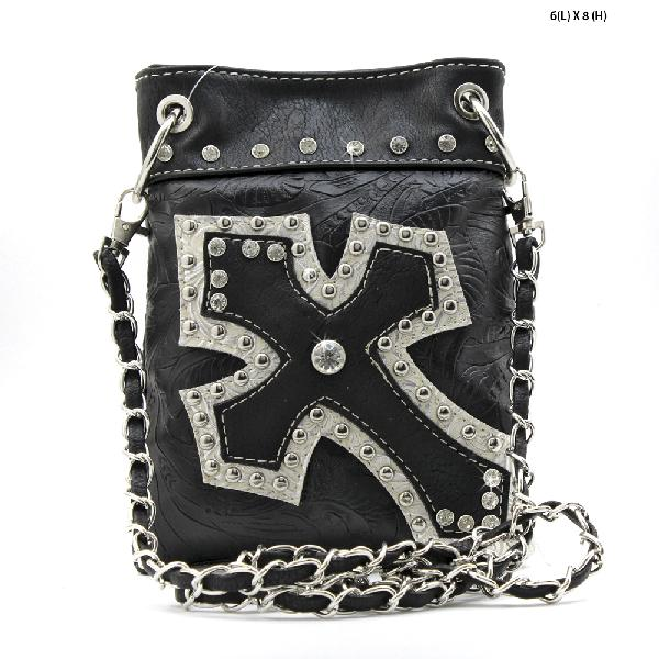 TL-930-BLACK - WHOLESALE RHINESTONE CRYSTAL CELLPHONE CASES/POUCHES