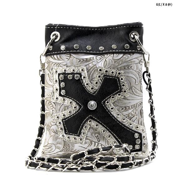 TL-930-PEWTER - WHOLESALE RHINESTONE CRYSTAL CELLPHONE CASES/POUCHES