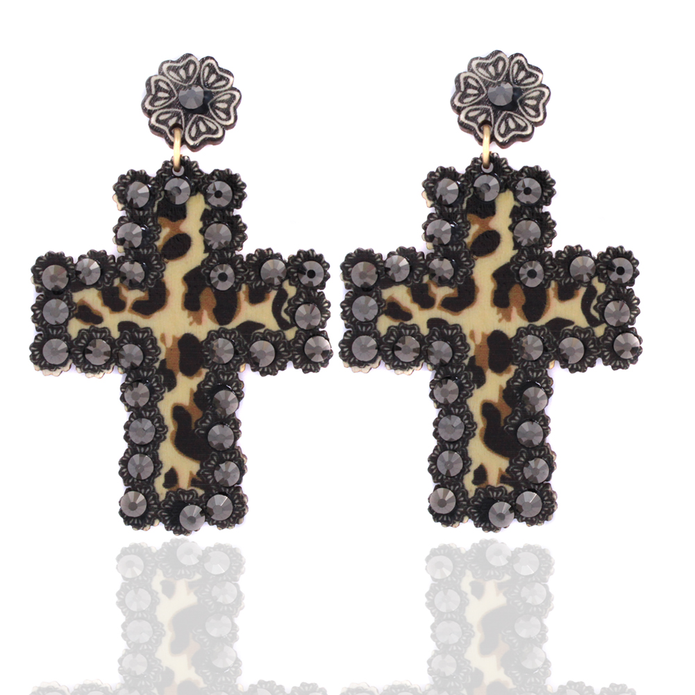 201-LEOPARD-EARRINGS-BLK