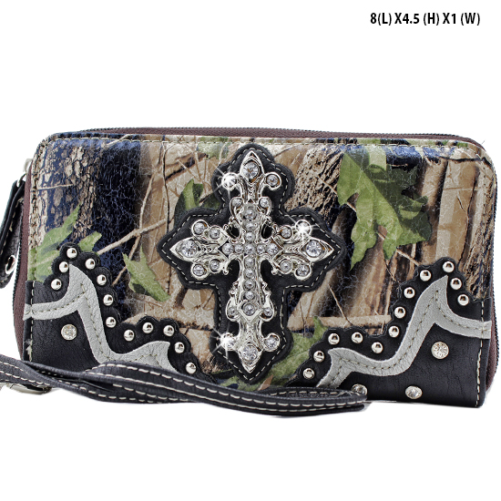 WHA-238-BK/BK - WHOLESALE WOMENS WRISTLETS-WALLETS