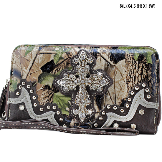 WHA-238-BRN/BRN - WHOLESALE WOMENS WRISTLETS-WALLETS