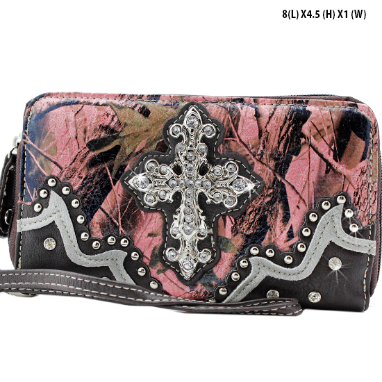 WHA-238-PK/BRN - WHOLESALE WOMENS WRISTLETS-WALLETS