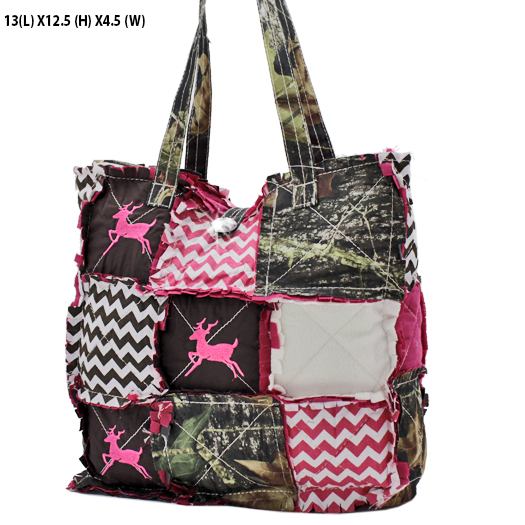 WQH-101-PINK - WHOLESALE DESIGNER INSPIRED HANDBAGS/RAG PURSES