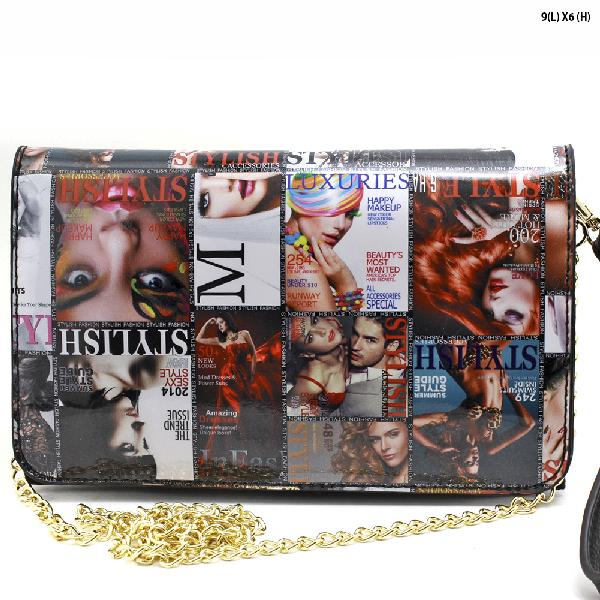 WYP010-CA - NEW DESIGNER INSPIRED MAGAZINE PRINT RUNWAY STYLE WRISTLETS