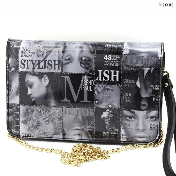 WYP010-E - NEW DESIGNER INSPIRED MAGAZINE PRINT RUNWAY STYLE WRISTLETS