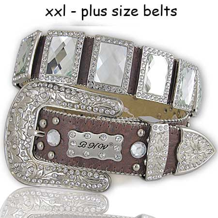 XXL-310-BROWN-(2PCS) - WHOLESALE WESTERN BELTS/BHW BRAND WESTERN BELTS