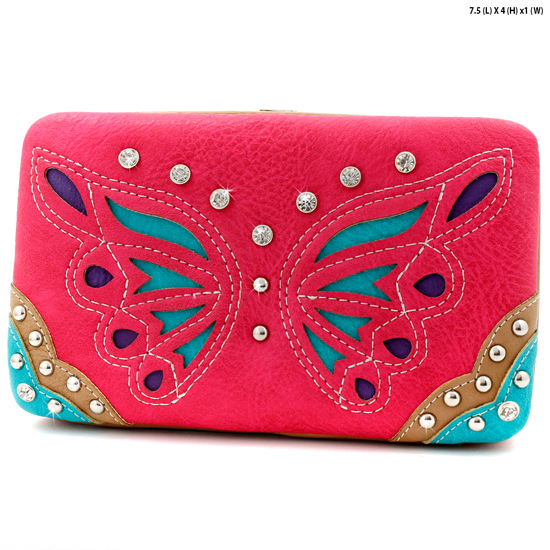BFU3-3000-FUCHSIA - WHOLESALE WESTERN WALLETS