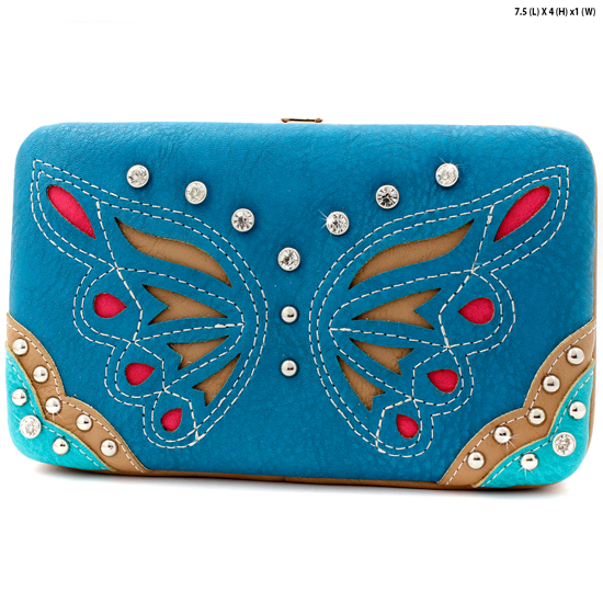 BFU3-3000-BLUE - WHOLESALE WESTERN WALLETS