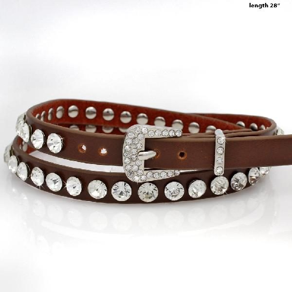 HAT-BAND-STUD-BROWN - NEW WESTERN RHINESTONE HAT BANDS