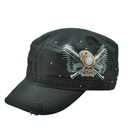 CAD-TAT-BASE/BATS - WHOLESALE RHINESTONE CADET CAPS/HATS