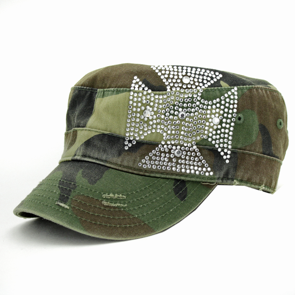 CAD-CHOP-CAMO - CAD-CHOP-CAMO WHOLESALE COWGIRL RHINESTONE CADET CAPS/HATS