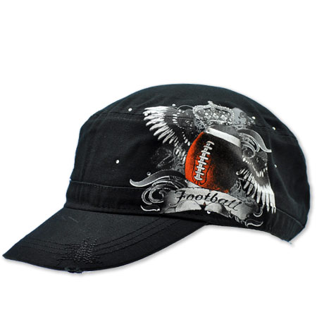 CAD-TAT-FOOTBALL - WHOLESALE RHINESTONE CADET CAPS/HATS