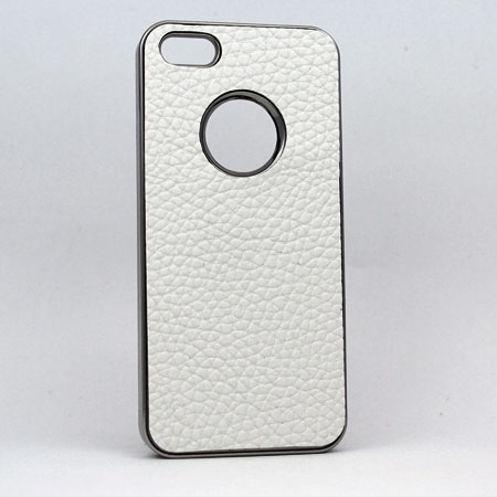 I5-MTL-LTHR-O-WT - WHOLESALE IPHONE 5 COVERS